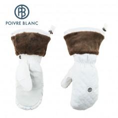 Moufles de ski POIVRE BLANC W15-1072 JRGL/P Blanc Fille