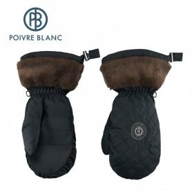 Moufles de ski POIVRE BLANC Noir Femme