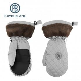 Moufles de ski POIVRE BLANC Argent Femme
