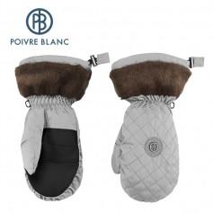 Moufles de ski POIVRE BLANC W15-1072 WO/P Argent Femme