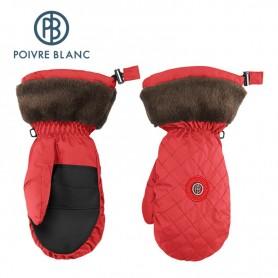 Moufles de ski POIVRE BLANC Corail Femme