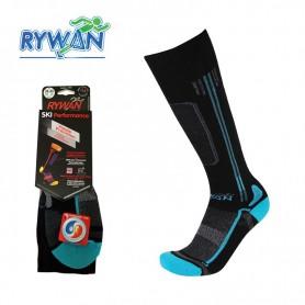 Chaussettes de ski RYWAN Cortina Noir / Bleu Unisexe