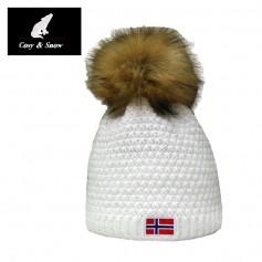 Bonnet de ski COSY & SNOW Norvégien Blanc Unisexe