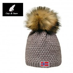 Bonnet de ski COSY & SNOW Norvégien Beige Unisexe