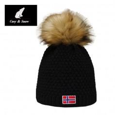 Bonnet de ski COSY & SNOW Norvégien Noir Unisexe