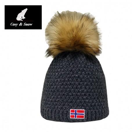 Bonnet de ski COSY & SNOW Norvégien Anthracite Unisexe