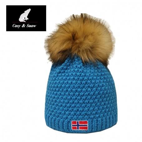 Bonnet de ski COSY & SNOW Norvégien Bleu Unisexe