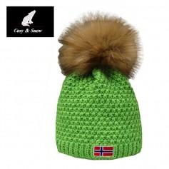 Bonnet de ski COSY & SNOW Norvégien Vert Unisexe