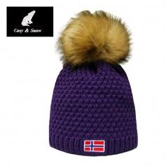 Bonnet de ski COSY & SNOW Norvégien Violet Unisexe