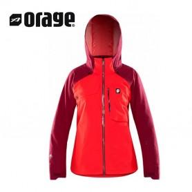 Veste de ski ORAGE Grace Corail Femme