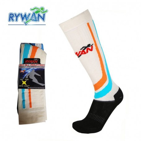 Chaussettes de ski RYWAN Kitzbuhel Bleu / Orange Unisexe