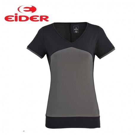 Tee-shirt EIDER Tao Tee Noir / Gris Femmes