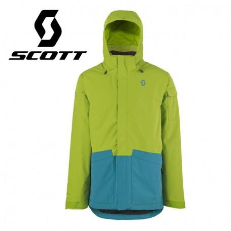 Veste de ski SCOTT Terrain Dryo Plus Vert / Bleu Hommes