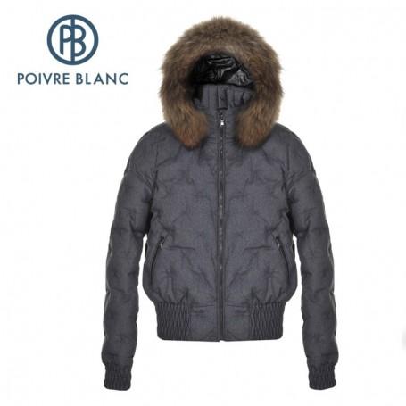 Doudoune POIVRE BLANC WO/A Down Jacket Jeans Black Femme