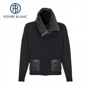 Gilet POIVRE BLANC WO jacket Noir Femme