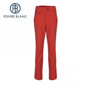 Pantalon de ski Softshell POIVRE BLANC WO Pants Rouge Femmes