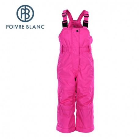 Salopette POIVRE BLANC Ski Bippant Rose BB Filles