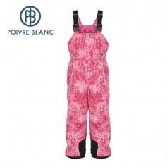 Salopette POIVRE BLANC Ski Bippant Rose BB Fille