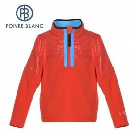 Polaire POIVRE BLANC BBBY Fleece Sweater Rouge BB Garçon