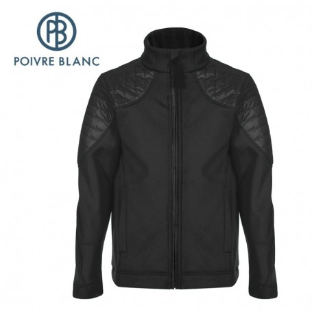 Veste stretch POIVRE BLANC BBBY Fleece Jacket Noir Garçon