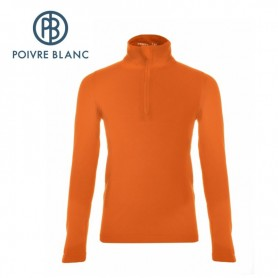Sweat POIVRE BLANC BBBY Fleece Sweater Orange BB Garçon