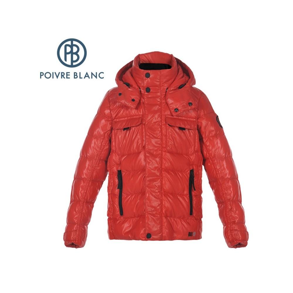 Veste POIVRE BLANC JRBY/A Down Jacket Rouge Garçon