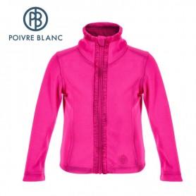 Veste Polaire POIVRE BLANC BBGL Fleece Jacket Rose BB Fille