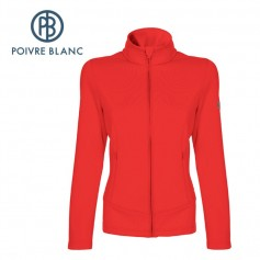 Veste stretch POIVRE BLANC JRGL Fleece Jacket Rouge Fille