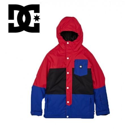 Manteau de ski DC Shoes Defy Jkt rouge/noir/bleu garçon