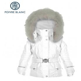 Veste de ski POIVRE BLANC BBGL/A Ski Jacket Blanc BB Fille