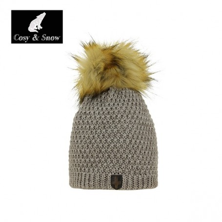 Bonnet de ski Pompon Cosy&Snow Naturel Unisexe