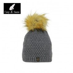 Bonnet de ski Pompon Cosy&Snow Nina Anthracite Unisexe