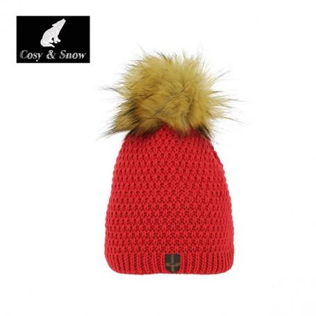 Bonnet de ski Pompon Cosy&Snow Nina Rouge Unisexe