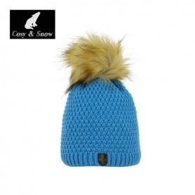 Bonnet de ski Pompon Cosy&Snow Nina Bleu Unisexe