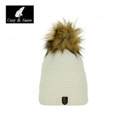 Bonnet de ski Pompon COSY & SNOW Nina Ecru Femme