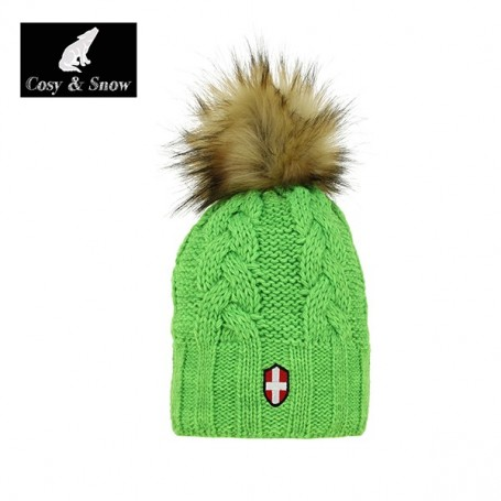 Bonnet de ski COSY & SNOW Eden Vert Anis Unisexe