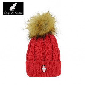 Bonnet de ski COSY & SNOW  Steph rouge