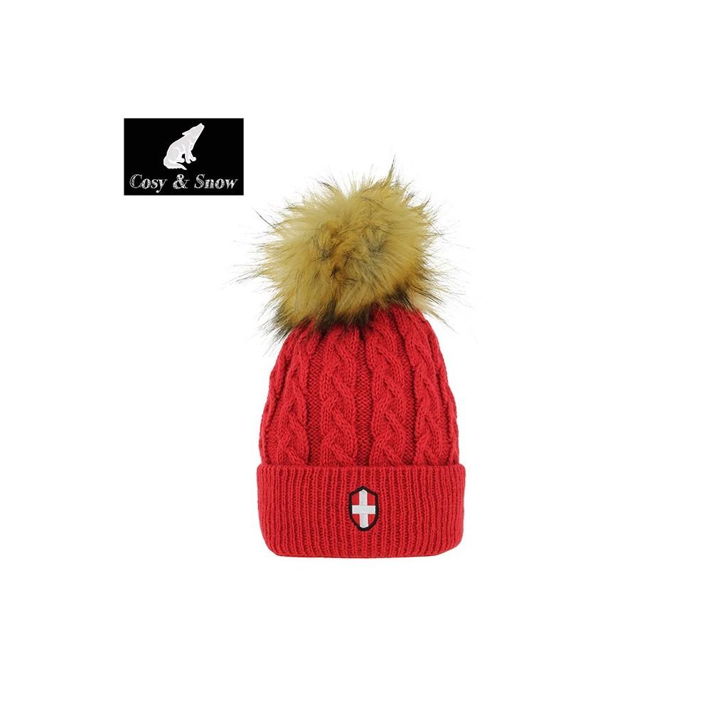 Bonnet de ski COSY & SNOW  Steph rouge