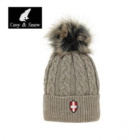 Bonnet de ski COSY & SNOW Steph naturel