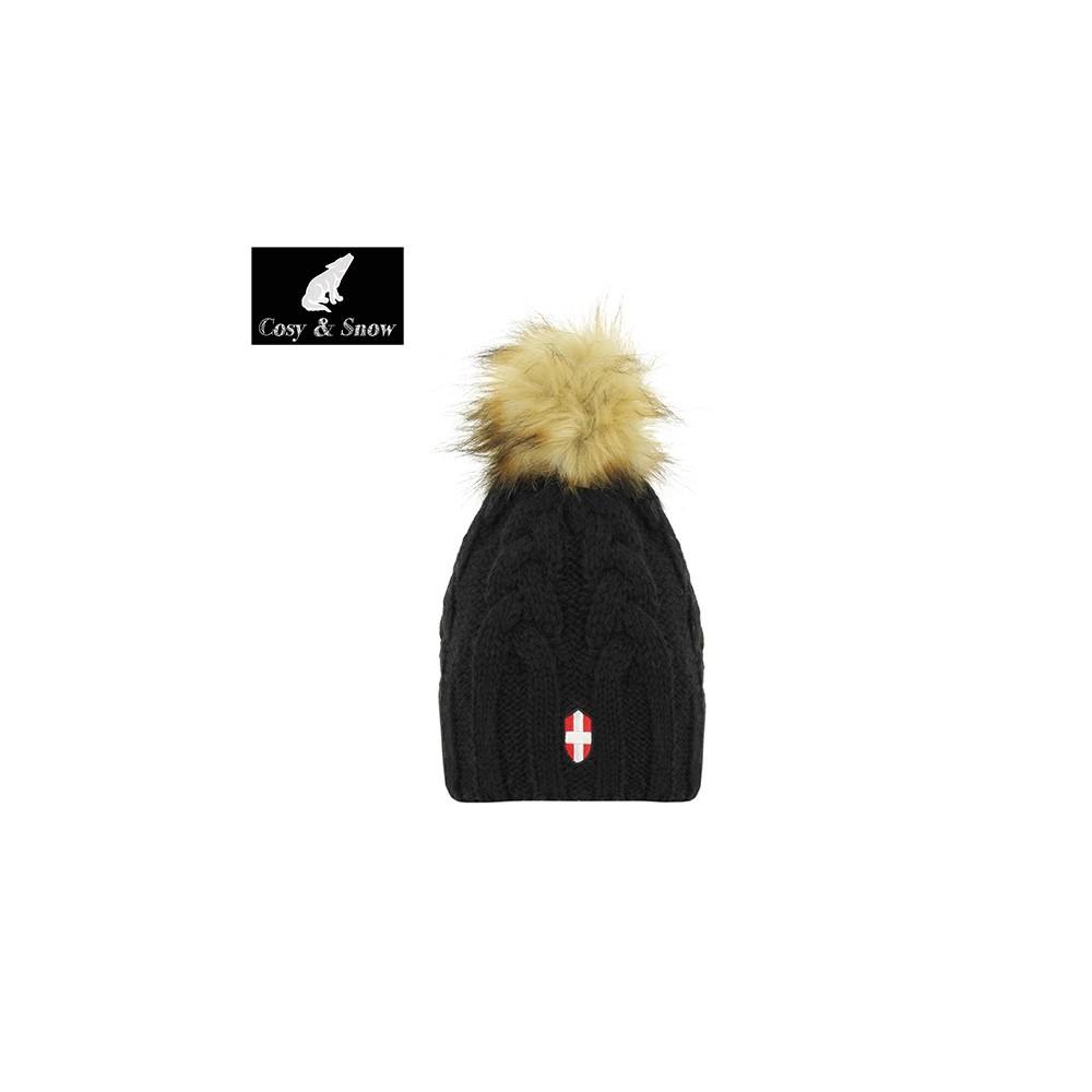 Bonnet de ski COSY & SNOW Eden Noir Unisexe