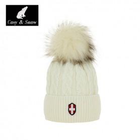 Bonnet de ski COSY & SNOW  Steph blanc écru