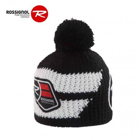 Bonnet Rossignol world cup pompon noir Junior