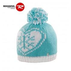 Bonnet de ski ROSSIGNOL Teva Pompon Turquoise Junior