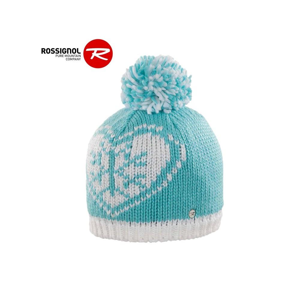 Bonnet Rossignol Teva pompon turquoise Junior