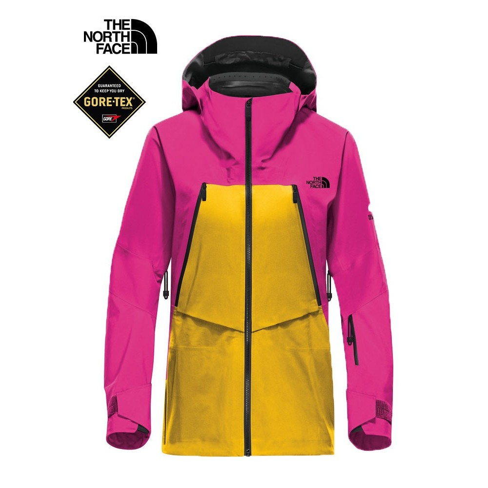 df622c6088 ... Veste de ski North Face Steep Triclimate rose/jaune Femmes