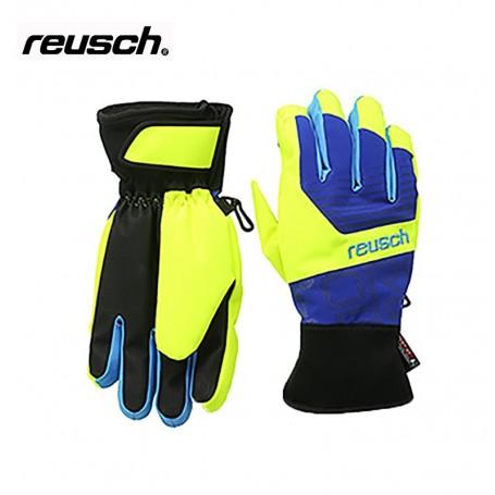 Gant de ski Reusch Tobi R-tex bleu/jaune junior mixte
