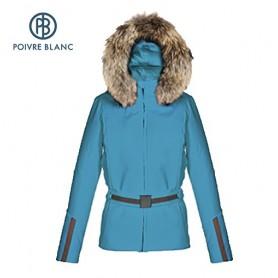 Blouson de ski POIVRE BLANC WO/B Ski Stretch Jacket Bleu canard Femme