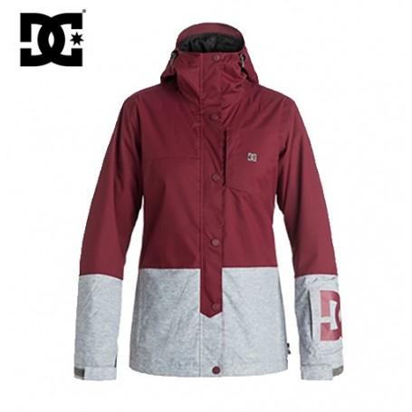 Manteau de ski DC Shoes Defy Jkt bordeau/gris femme