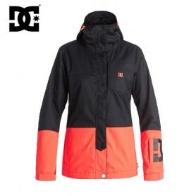 Manteau de ski DC Shoes Defy Jkt  noir/corail femme