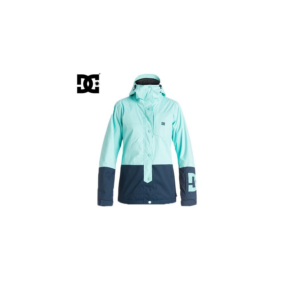 manteau de ski dc shoes femme defy bleu. Black Bedroom Furniture Sets. Home Design Ideas